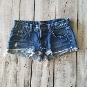 Victoria Secret PINK Denim Shorts size 2 Distresse